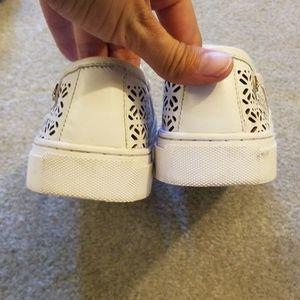 Tory Burch Shoes - Tory burch Lennon laser cut white slip on sneakers
